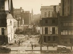 Extending Martin Place in Sydney in the 1930s.