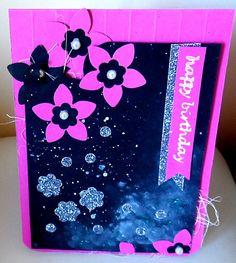 Clean &  Simple Card#3 DIY Flowers of the  night