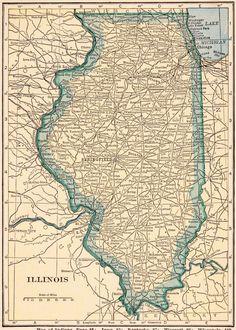 Vintage MICHIGAN US Map Original Print Neat Collectible - Original us map