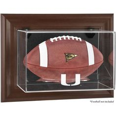 Miami Hurricanes Fanatics Authentic Brown Framed Wall-Mountable Football Display Case - $99.99