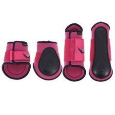 Horse riding gaiters Horse Riding - Soft Set Pink / Navy FOUGANZA - Saddles and Tack