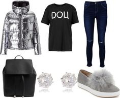 How to Wear a Metallic Puffer Jacket - College Fashion