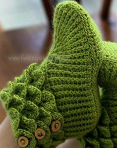 "ABOUT THIS PATTERN: After the great response I had with my Crocodile Stitch Baby Booties, there were many requests for a ""super-sized"" version of the boots. Voi"