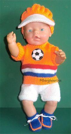 Voorbeeldkaart - Voetbaltenue BabyBorn - Categorie: Breien - Hobbyjournaal uw hobby website