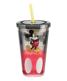 Love this Disney Mickey Mouse 18-oz. Travel Tumbler on #zulily! #zulilyfinds