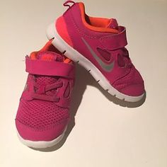 Toddler Nike Sneakers Size 10 Free Run 5 Pink Slip on Velcro Sneaker | eBay