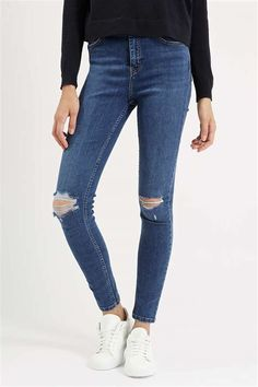 5311d2d54e3 Topshop 'Jamie' Ripped High Rise Ankle Skinny Jeans--So cute!