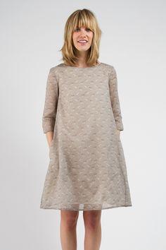 Grey Zebra Finch Dress