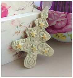Handmade porcelain hanging tree Great for Christmas. Made with royale white porcelain. Hand glazed and finished with different lustres, some of which contain real gold to give it that luxurious touch. Childrens Teepee, White Porcelain, Clay, Frame, Christmas, Handmade, Clays, Picture Frame, Xmas