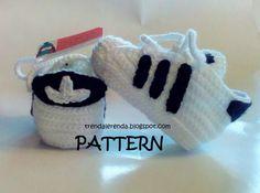 PATRÓN de ganchillo Adidas Superstar de bebé en por TrendaLerendaTL