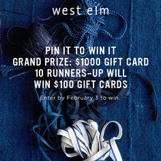 Enter to win a $1,000 @westelm giftcard! Click on this image to enter!