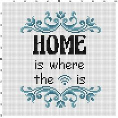 Home is where the wifi is Good Housewarming gift! Ironic housewarming gift for the amish person in your life. Modern cross stitch pattern is designed on 14 count Aida. It will run about 5x7 and will look awesome in an 8x10 frame with a matte, or a 5x7 frame. This pattern will come