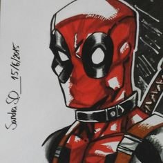 Deadpool Drawing by me, but from Todd Nauck