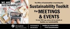 Humber Office of Sustainability's Greening Events and Meetings Guide