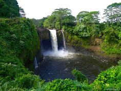 The volume of the rainbow falls (or Waianuenue) changes on a daily basis. This is what the falls look like after a good rain upstream