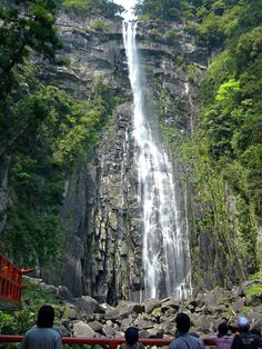 Nachi Falls (Nachi no Taki) in Nachikatuura, Wakayama Prefecture, Japan, is one of the best-known waterfalls in Japan. With a drop of at 133 m, it is often erroneously thought to be the country's tallest. In fact, the tallest waterfall in Japan is the Hannoki Falls, at 497 m -