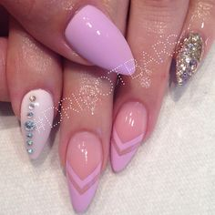 repeat the nude nail with rhinestones instead of the silver