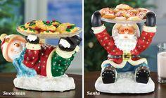 Fiber Optic Christmas Character Serving Dish Set