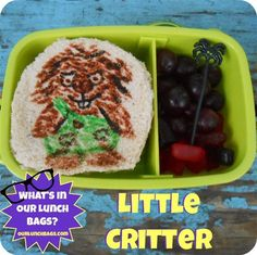 Little Critter Lunch Bag Whats In Our Lunch Bags
