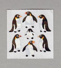 Sandylion+Penguin+Stickers+Rare+Vintage+PM54