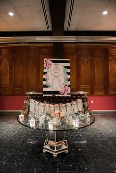 wedding reception place card table idea; photo: AMC Photography