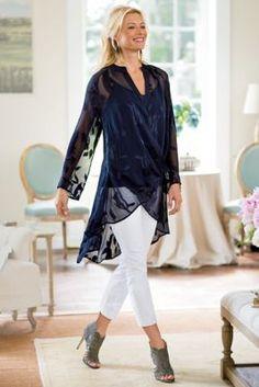 Silk Convertible Shirt