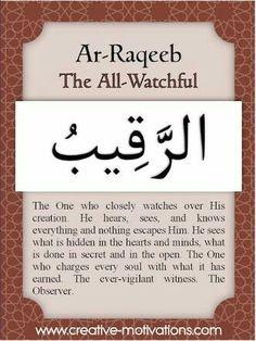 Day Ar-Raqeeb ~ The Watchful