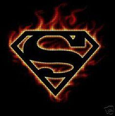 Superman Flames Beaded or Crochet Pattern Crochet Quilt, Knit Or Crochet, Filet Crochet, Crochet Stitches, Crochet Baby, Crochet Patterns, Crochet Afghans, Logo Superman, Superman Tattoos