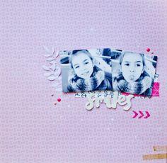 Layout Smiles - Cute Girl de Crate paper