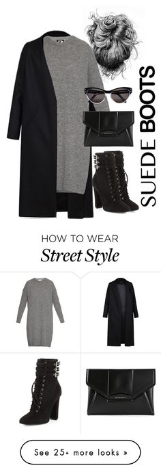 """Suede Boots"" by gregnewsome on Polyvore featuring Non, Acne Studios, Givenchy, Giuseppe Zanotti, Selima Optique and suedeboots"