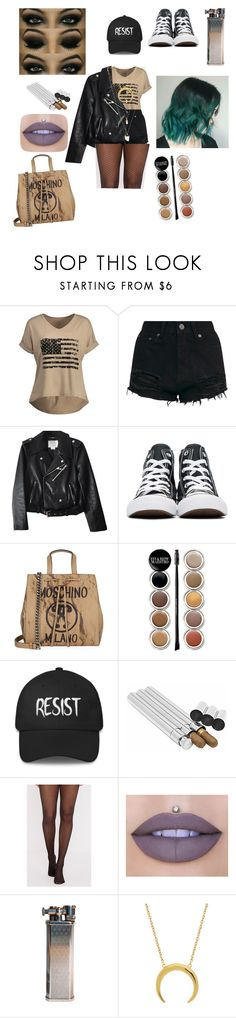 """""""Be Scared"""" by tealbloodedballerina ❤ liked on Polyvore featuring interior, interiors, interior design, home, home decor, interior decorating, Kate Spade, Converse, Moschino and Giorgio Armani"""