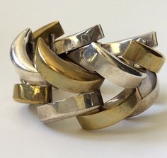 Enormous Taxco Modernist Sterling Silver by ArchetypeCollection