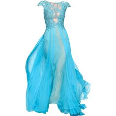 Abed Mahfouz - edited by mlleemilee ❤ liked on Polyvore featuring dresses, gowns, long dresses, vestidos, blue ball gown, blue dress, blue gown and long blue evening dress