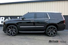 Cadillac Escalade with DUB Wheels exclusively from Butler Tires and Wheels in Atlanta, GA - Image Number 9682 Escalade Car, Cadillac Escalade, Donk Cars, Suv Cars, Custom Chevy Trucks, Gmc Trucks, Mercedes Benz Viano, Best Cars For Teens, Hummer Cars