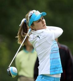 Lexi Thompson tees-off from the 12th hole during the LPGA Championship at the Monroe Golf Club, Thursday, Aug. 14, 2014 in Pittsford, N.Y. (AP Photo/The Buffalo News, Harry Scull Jr) ▼15Aug2014AP|Brittany Lincicome leads LPGA Championship http://bigstory.ap.org/article/brittany-lincicome-leads-lpga-championship #Wegmans_LPGA_Championship_2014