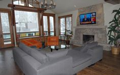 Cozy vacation home in Snowmass, Colorado. Perfect rental for ski season State Of Colorado, Vail Colorado, Colorado Vacations, Ski Vacation, Ski Season, Skiing, Cozy, Places, Furniture
