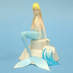 Mermaid Crafts | ... - Free Papercraft, Paper Models and Paper Toys: Mermaid Papercraft
