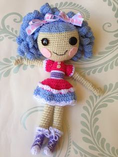 Faery Tale Crochet: Lallaloopsy doll   based on a free pattern  http://stitch11.com/lalaloopsy-inspired-doll/