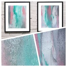 A personal favorite from my Etsy shop https://www.etsy.com/au/listing/249691692/free-shipping-two-8x10-pink-aqua-green