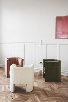 Loafer chairs by Space Copenhagen, Lato table by Luca Nichetto.