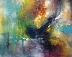 Intrinsic Evolution by Chris Foster Mixed Media on Canvas 48 in x 60 in