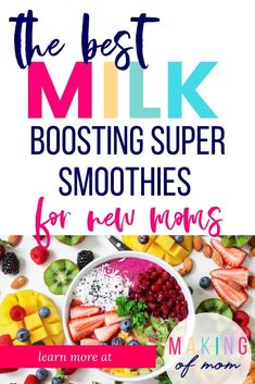 Lactation smoothies - smoothie recipes to increase your milk supply for bre Yummy Smoothies, Smoothie Recipes, Scones, Breastmilk Cookies, Quiche, Lactation Smoothie, Low Milk Supply, Brunch, Lactation Recipes