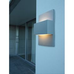 Elstead Lighting Norlys Geneve 13w Outdoor up & Down Wall Light in Aluminium