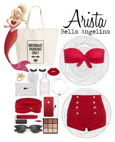 """Arista // The Little Mermaid"" by bellaangelina ❤ liked on Polyvore featuring Workshop 28, Pierre Balmain, Battington, Lime Crime, Bling Jewelry, Ray-Ban, Morphe, Valentino, Forever 21 and MAC Cosmetics"