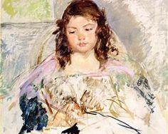 Esquisse pour «Françoise dans un président adossé ronde, lecture» ou «A Girl in Pink» - Mary Cassatt