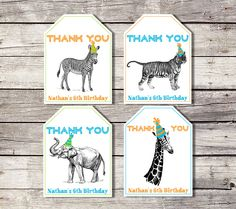 7126978b063 Zoo Party Favor Tags Favour Tags Party Animal Tags Zoo Birthday Thank You  Tags Safari Favor Tags Boy Jungle Favor Tag Giraffe Tiger