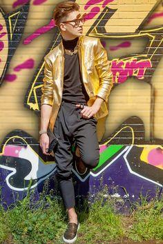 Men fashion madness                               : GOLD BLACK