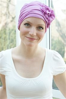 Oh so pretty womens hair loss turban in soft viscose jersey.  Excellent chemo hat or soft and comfy hair loss headwear.