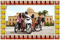 Girl Biker Gangs of Morocco - UK photographer Hassan Hajjaj series of photos