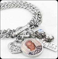 Memorial Bracelet Remembrance Photo Jewelry Memory Charm